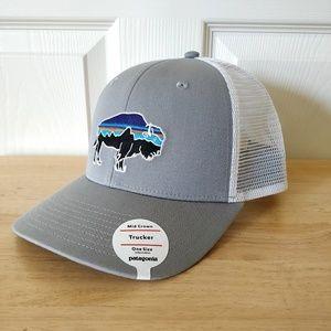 Patagonia bison trucker hat NWT